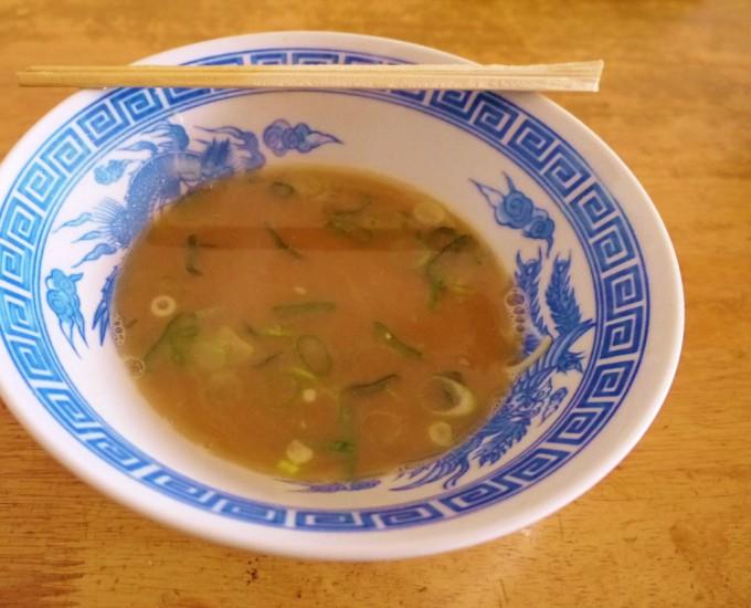 銀座一福 スープ残り